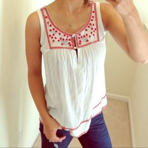 French Connection beaded tank